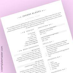 Free legal executive CV template