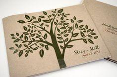 Earthy Green Tree Wedding Invitation by down2earthpaperworks