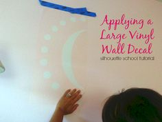 How to Hang a Large Vinyl Wall Decal (Silhouette Tutorial Part 2 of 2) ~ Silhouette School