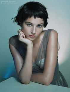 Sophie Byron with short hair