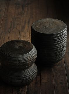 dark wood stools