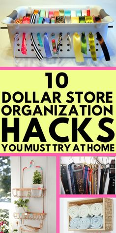 The dollar store can bring you a lot of awesomeness if you decide correctly what to buy there. You can use cheap dollar store items and turn them into amazing organizing tools to make your home organized and beautiful. These DIY projects are super easy to do. Everybody who loves doing crafts should see these hacks! Organizing tips, organizing hacks, organization ideas