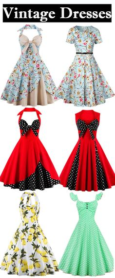 Halter Floral Print Pin Up Dress
