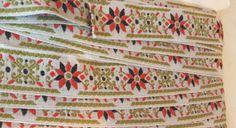 Vintage Embroidered Trim, Antique Trimming, Sewing Supply, Vintage Edging, Border,  Crown Originals Company, Vintage Notions