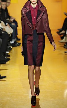 Burgundy leather jacket; two trends in one!  #Kenzo