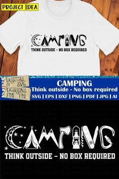 This professional camping design is ready to be cut with all major cutting machines. Sublimation, iron-on transfer and printing file formats also included. Commercial usage allowed - See T&C's on webiste. Forest Quotes, Stencils For Wood Signs, Cutting Tables, Silhouette Studio Designer Edition, Wood Cutouts, Silhouette Cameo Projects, Design Thinking, Svg Cuts, School Projects