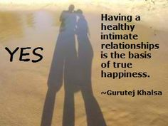Have a healthy relationship.