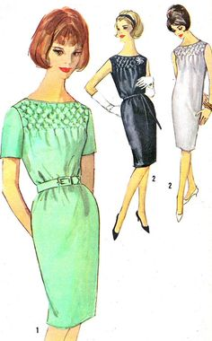 1960s Dress Pattern Simplicity 4826 Day or Evening by paneenjerez, $12.00