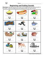 beginning ending sounds worksheet u 1 CVC Activities