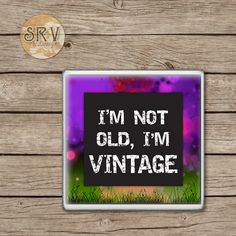 Funny Quote Drink Coaster(s), I'm Not Old I'm Vintage Ceramic Coaster Gift, Gag…