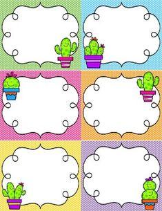 Editable Cactus Labels by A Colorful Classroom Classroom Labels, Classroom Posters, Classroom Themes, Classroom Procedures, School Organisation, Teacher Organization, Diy Crafts Hacks, Diy And Crafts, Paper Cactus