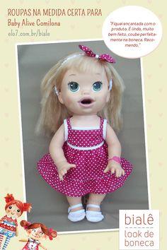 Roupas para Baby Alive: na medida certa para a boneca Comilona. Confira! Baby Alive Doll Clothes, Baby Alive Dolls, Baby Dolls, Baby Doll Strollers, 101 Dalmatians, Awesome Bedrooms, Legos, Brenda, Barbie
