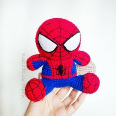 Spiderman *based on funko mupeez Plush toy @mirthamigurumis   #funkopop #Amigurumi #crochet #Guayaquil  #Ecuador #Spiderman #marvel #comic