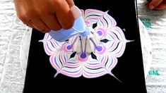 (465) Acrylic pouring ~ Cup bottom reverse dip ~ Pastel colours ~ Acryli...