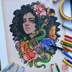 'Tis still the season. So I figured I'd offer a little Boxing Day sale on my store. Enter code BOXINGDAY and go nuts. Shop link is in my bio and the sale ends tomorrow by rikleeillustration Black Women Art, Black Art, Art Flash, Rik Lee, Natural Hair Art, Arte Sketchbook, Art Hoe, Afro Art, African American Art