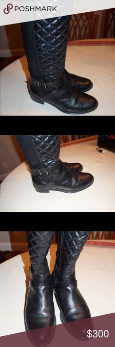 Andre Assoue Boots Preloved boots in great condition! They are very durable and are great for rain weather. They have rubber soles. There are scratches on the heels as displayed in the pics. Andre Assoue Shoes Winter & Rain Boots