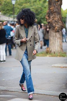 Julia Sarr-Jamois Street Style Street Fashion Streetsnaps by STYLEDUMONDE
