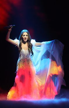 "Sabina Babayeva (Azerbaijan) performing ""When the Music Dies""--Eurovision 2012"