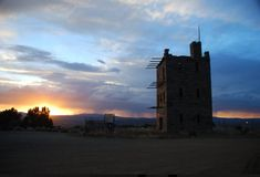 """Located in a small town off the """"Loneliest Road in America,"""" few Nevadans are aware of the existence of the historic Stokes Castle. Pahrump Nevada, Ghost Towns, Oh The Places You'll Go, Small Towns, Sunrise, Trail, Castle, America, Adventure"""