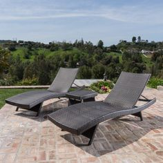 The Salem Outdoor Wicker Chaise Lounge Chair - Set of 2 turns your patio or yard into a restful retreat. This set of two chaise lounge chairs makes. Wicker Lounge Chair, Outdoor Wicker Chairs, Patio Chairs, Outdoor Decor, Pool Lounge Chairs, Patio Chaise Lounge, Outdoor Living, Lounge Cushions, Wicker Table