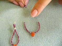 ▶ Beading Tutorial from Turquoise-StringBeads - How to Make Loop Earrings - YouTube