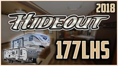 2018 Keystone Hideout 177LHS Travel Trailer RV For Sale Lakeshore RV Center Find out more about 2018 Hideout 177LHS at https://lakeshore-rv.com/hideout-rv/hideout-177lhs/?pr=true call 231.760.8805 or stop in and see one today!  Get out and enjoy Mother Nature at its best with this 2018 Hideout 177LHS travel trailer from Lakeshore RV Center!  This lightweight single-axle RV has a manual patio awning exterior speakers and a full walk-on roof. Across the front youll see a protective diamond…