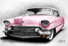 "I love you in my Pink Cadillac. What gorgeous ""eyes"" you have, classic Caddy!"