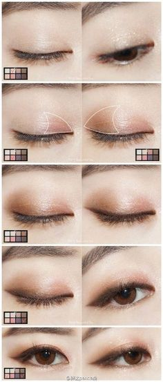 When it comes to eye make-up you need to think and then apply because eyes talk louder than words. The type of make-up that you apply on your eyes can talk loud about the type of person you really are. Makeup Korean Style, Korean Makeup Tips, Asian Eye Makeup, Korean Makeup Tutorials, Makeup Style, Korean Makeup Tutorial Natural, Korean Wedding Makeup, Ulzzang Makeup Tutorial, Korean Beauty