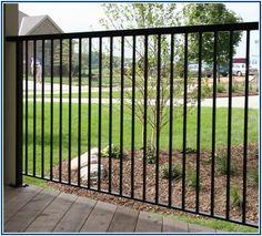Unusually Black Iron Fence