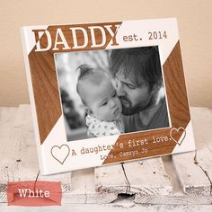 Personalized Dad Picture Frame From Daughter Daddy A by GiftedOak
