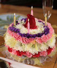 birthday floral cake by Beneva Flowers #Sarasota