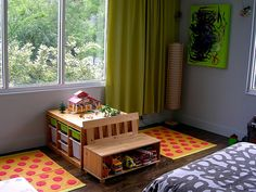Children's table using Ikea Trofast Toy Storage.