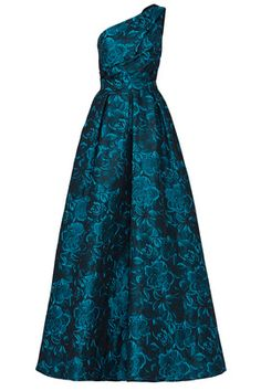 a659bd9e9a Show your shoulder in this elegant teal gown by Slate & Willow. One  shoulder neckline.