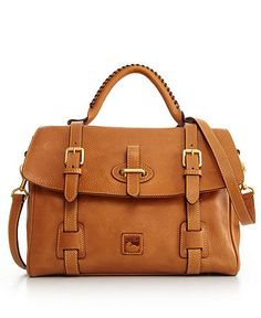 Dooney & Bourke Handbag, Florentine Flap Tab Satchel