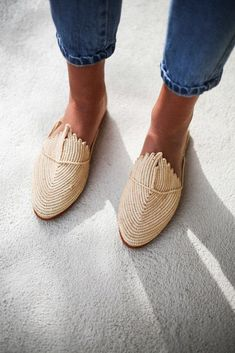 woven mules for spring