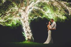 Green Gables Restaurant Jennerstown, PA Lighted Tree Wedding