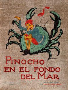 Pinocho (Personaje de ficción). Pinocho en el fondo del mar / [dibujos de Bartolozzi] (1932)