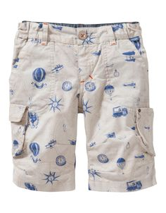 Shorts Peer. Cool shorts made of 100% sturdy cotton with a street map print.