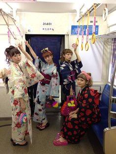 Yukata | Fashion show on board the Midosuji subway line, Osaka, Japan チカテツコレクション