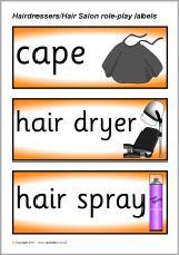 Hairdressers/Hair Salon role-play pack (SB553) - SparkleBox
