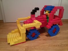 you see a tractor with front loader and Bauer from LEGO® Duplo.