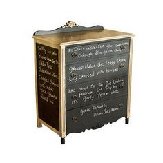 creative decorating ideas for dressers and chests, painted with blackboard paint