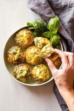 Herb Egg Muffins - Green Healthy Cooking Nutritious Breakfast, Healthy Breakfast Smoothies, Low Carb Breakfast, Breakfast Recipes, Morning Breakfast, Breakfast Ideas, Egg Muffins, Gluten Free Muffins, Healthy Cooking