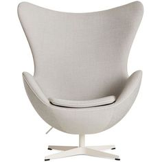 Arne Jacobsen Egg Chair in Basel Fabric ($7,500) ❤ liked on Polyvore featuring home, furniture, chairs, fabric chairs, black white chair, set of 2 chairs, spinning chair and upholstery chairs