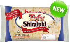 Tofu Shirataki is a great pasta alternative made from blending the root of the Konnyaku - a member of the yam family and tofu. LOW CARB - only of carbs per serving LOW CALORIE - 20 calories per 4 oz serving Tofu Noodles, Low Carb Noodles, Shirataki Noodles, Asian Noodles, Pasta Alternative, Gourmet Recipes, Low Carb Recipes, Healthy Recipes, Diet Recipes