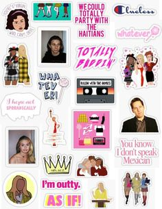 stickers Clueless sticker pack the movies clueless stickers rollin with ., stickers Clueless sticker pack the movies clueless stickers rollin with ., stickers Clueless sticker pack the movies clueless stickers rollin with . Meme Stickers, Tumblr Stickers, Phone Stickers, Printable Stickers, The Office Stickers, Cher Horowitz, Aesthetic Phone Case, 90s Aesthetic, Clueless Aesthetic