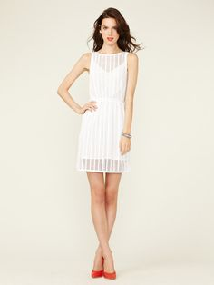 Mesh Cotton Bateaux Dress by Plenty By Tracy Reese on Gilt.com