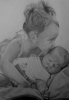 pencil drawings done from a photograph
