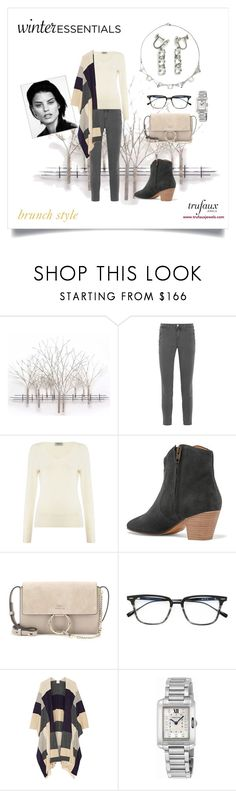 """""""Woman with Square Face"""" by trufauxjewels ❤ liked on Polyvore featuring Home Decorators Collection, J Brand, Repeat Cashmere, Isabel Marant, Chloé, Dita, Madeleine Thompson and Cartier"""