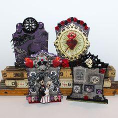 By Lisette Melendez for the Retro Café Art Gallery 2014 Tombstone Art Swap!  www.RetroCafeArt.com